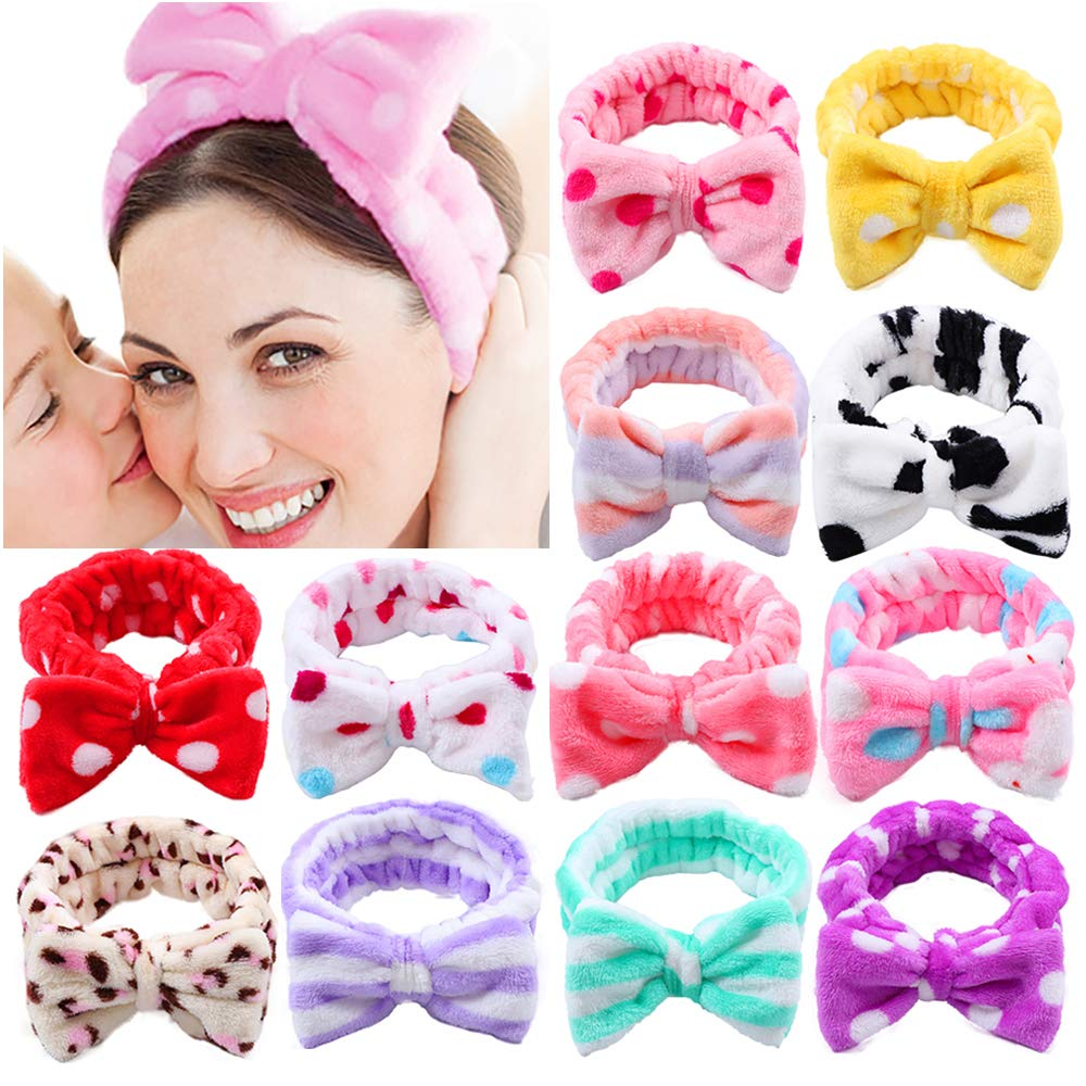 LOT OF 72 ELASTIC HEADBANDS HAIR TIE STRETCHY PARTY FAVORS PINK GREEN YELLOW