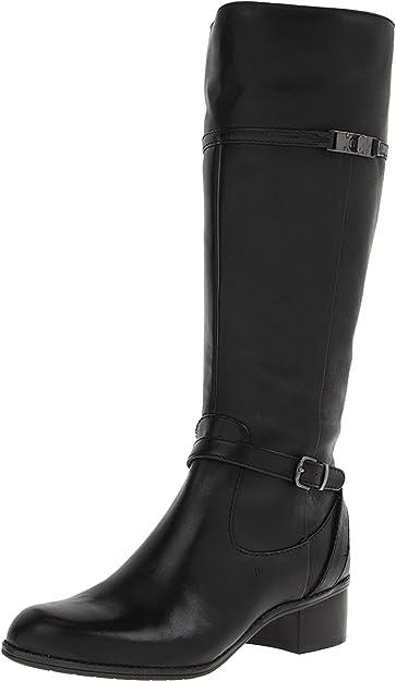 fe35904e12ddc Amazon.com   Bandolino Women's Callan Wide Calf Riding Boot, Black ...