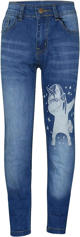 A2Z 4 Kids Kids Girls Jeans Designers Dabbing Unicorn Dab Floss Denim Stretchy Pants Fashion Slim Fit Trousers New Age 5 6 7 8 9 10 11 12 13 14 Years