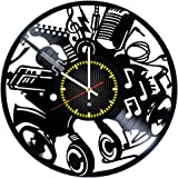 Musical Instruments Vinyl Record Wall Clock - Gift idea for music fans