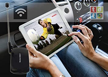 Navion DVB-T - Antena de Televisión TDT Inalámbrica para Smartphone y Tablet Android e iOS, iPhone, Sin Internet, Antena Desmontable, Batería Interna: Amazon.es: Electrónica
