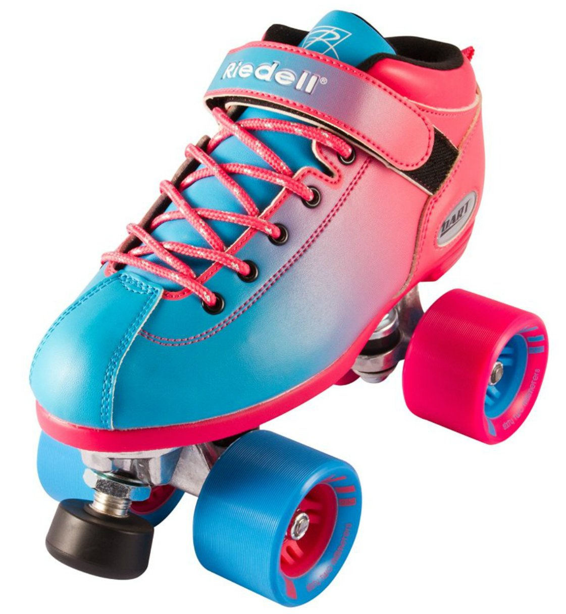 New! Riedell Dart 2 Tone Pink & Blue Ombre Quad Roller Speed Skate Youth & Adult Sizes! (Mens 8) by Riedell Skates