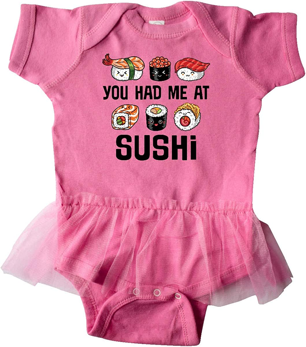 inktastic You Had Me at Sushi Gift Infant Tutu Bodysuit