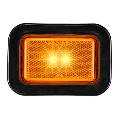 Grand General 78594 LED Light (Small Rectangle Amber with Grommet): Automotive