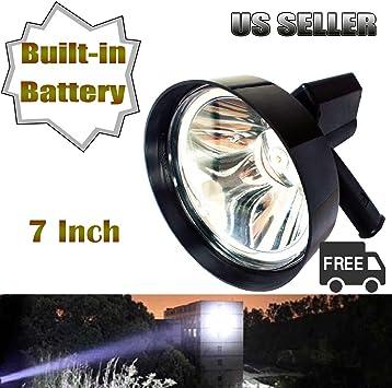 7inch 100W LED Handheld Hunting Spotlight Shooting Emergency Lighting 175mm 12V