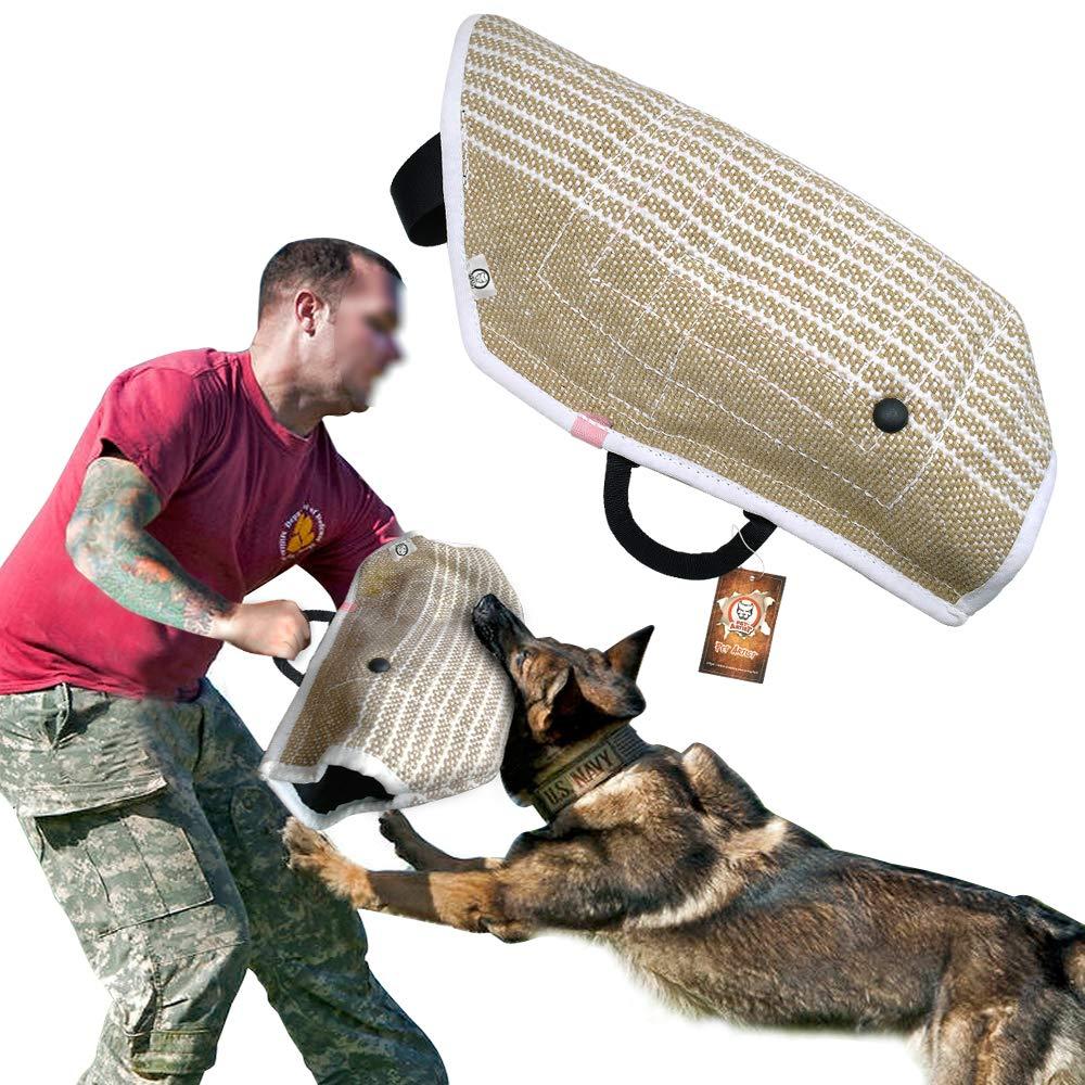 PET ARTIST Jute Puppy Dog Bite Sleeves for Young Dogs Bite Training,Fit German Shepherd/Belgium Malinois/Schutzhund/Pitbull Puppy Training by PET ARTIST