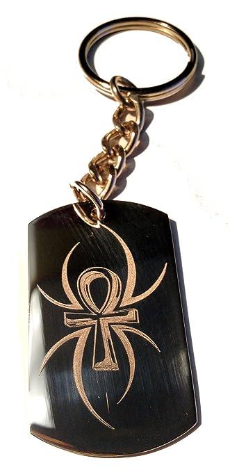 Amazon.com: Spider tatuaje Ankh egipcio Egipto Cruz logotipo ...