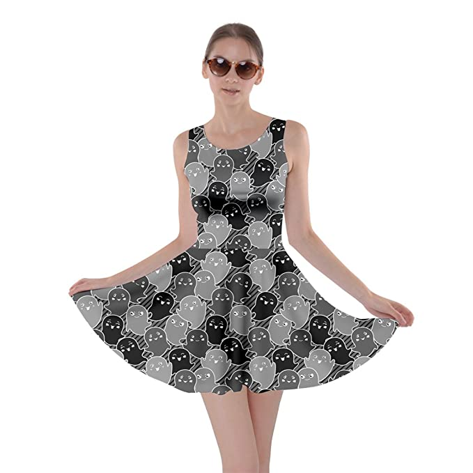 7437c00d499 CowCow Womens Kawaii Cute Ghosts Skater Dress at Amazon Women s Clothing  store