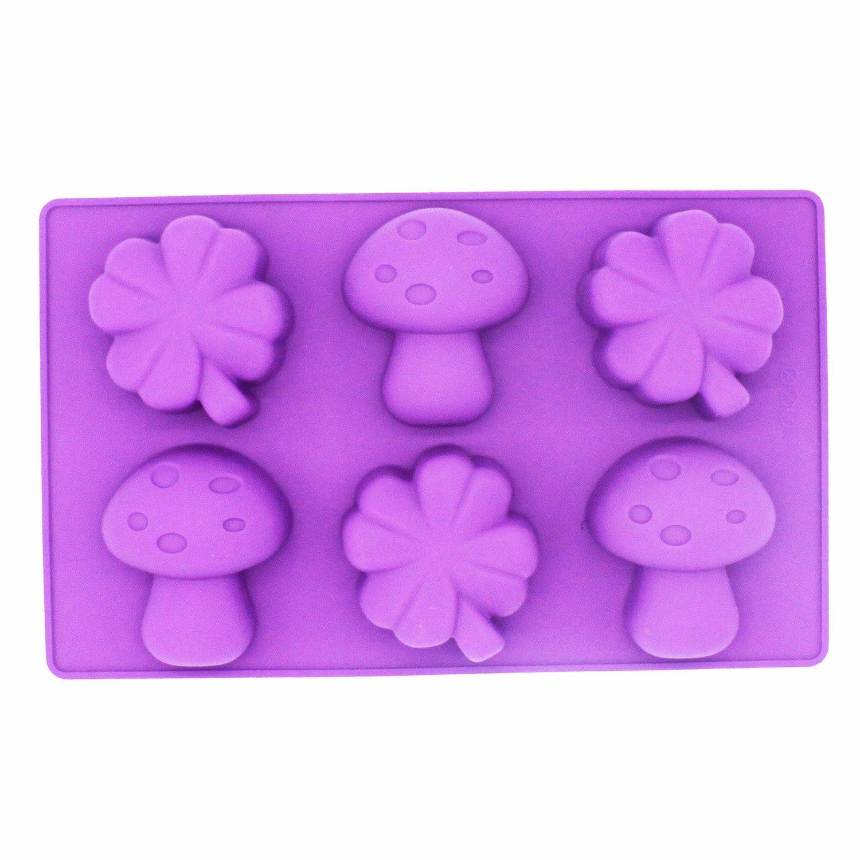 X-Haibei Clover Mushroom Kids Soap Cake Jello Chocolate Crayon Making Silicone Mold
