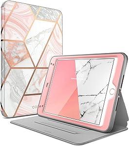 i-Blason Cosmo Case for iPad Mini 5 2019 / iPad Mini 4, [Built-in Screen Protector] Full-Body Folding Stand Protective Case Cover with Auto Sleep/Wake, Marble, 7.9