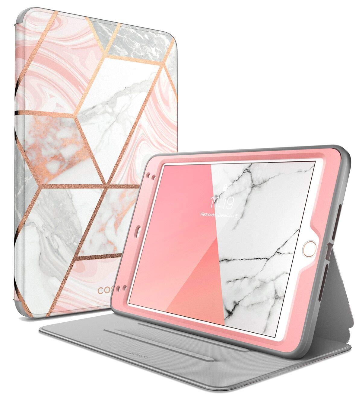 i-Blason Cosmo Case for iPad Mini 5 2019 / iPad Mini 4, [Built-in Screen Protector] Full-Body Folding Stand Protective Case Cover with Auto Sleep/Wake, Marble, 7.9''