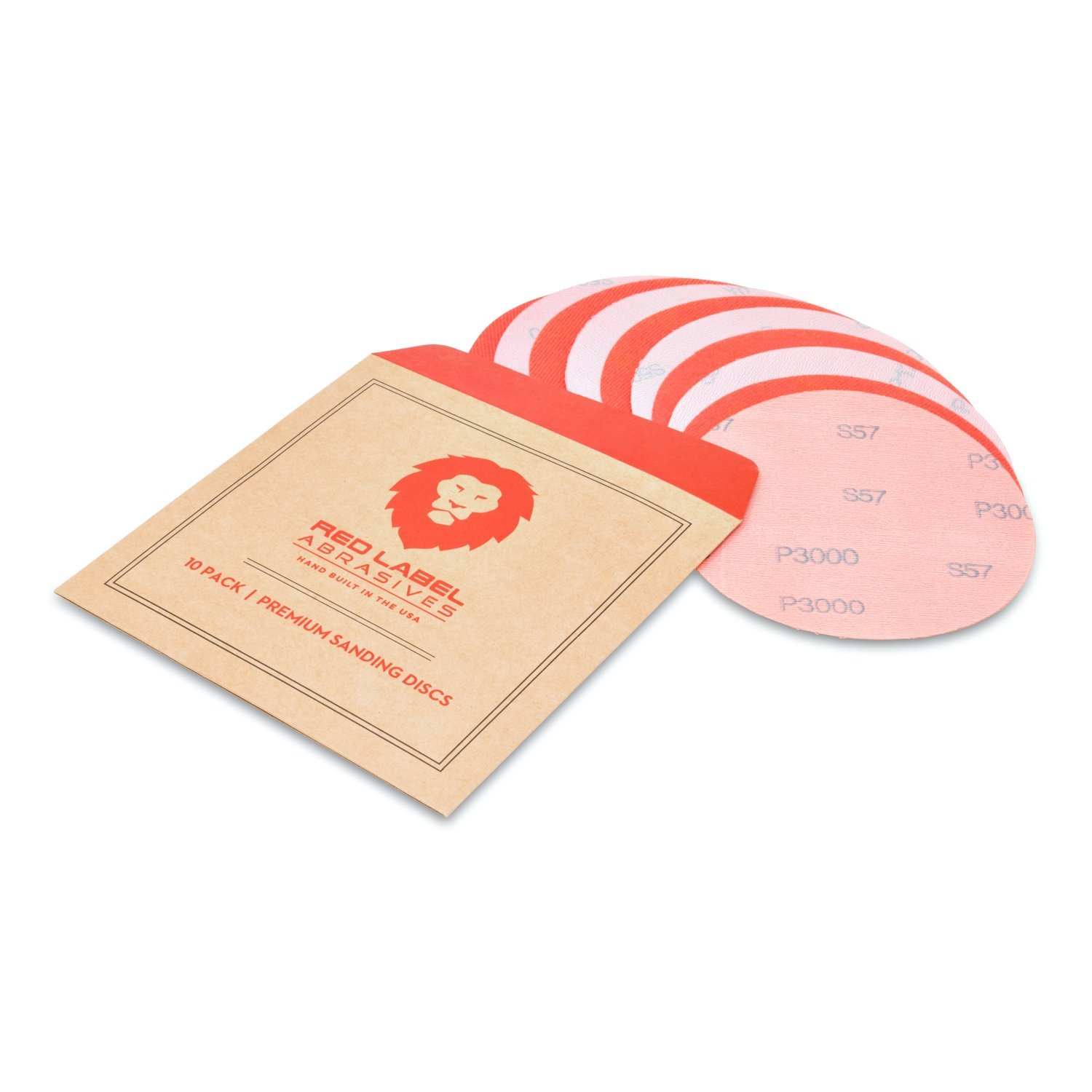 10 Pack 5 Inch 3000 Grit High Performance Hook and Loop Wet//Dry Auto Body Film Sanding Discs
