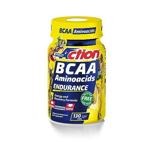 Pro-Action BCAA Aminoacidos Suplemento Deportivo - 130 Cápsulas