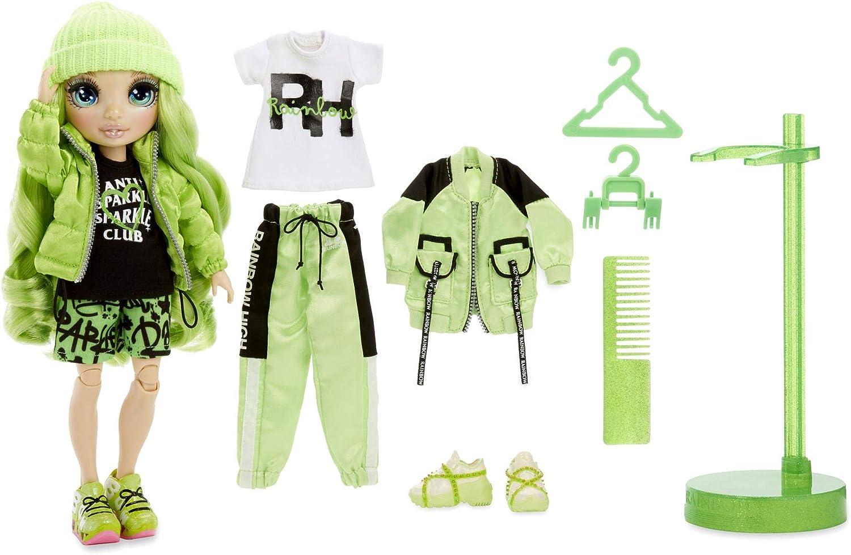 "JADE HUNTER Rainbow High 10/"" Fashion Doll /& Outfit GREEN HAIR BLUE EYES 2020 New"