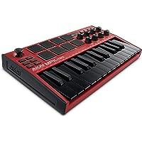 AKAI Professional MPK Mini MK3 – 25 Key USB MIDI Keyboard Controller With 8 Backlit Drum Pads, 8 Knobs and Music…