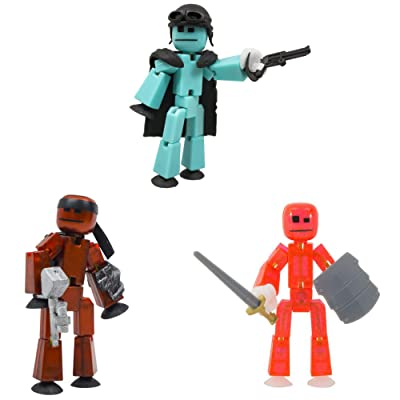 StikBot Off The Grid- Striker , Clint, Pixel: Toys & Games