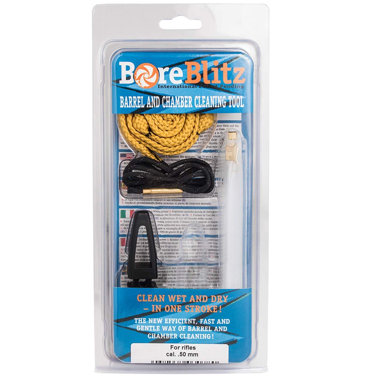 BoreBlitz Bore Cleaner Gun Snake Brushless for Rifle with Handle Caliber .50 .500 by BoreBlitz
