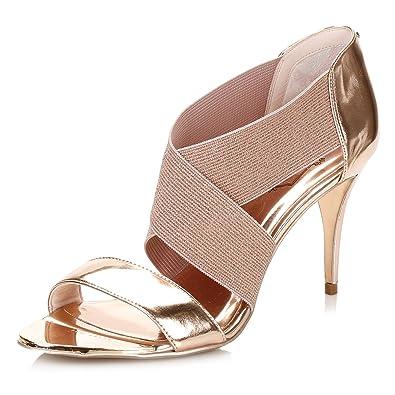 1fc5e1e8aca539 Ted Baker Womens Rose Gold Leniya Leather Court Shoes  Amazon.co.uk  Shoes    Bags