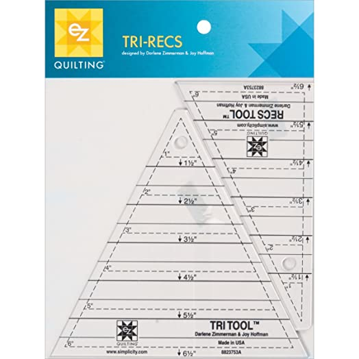 EZ Quilting Tri-Recs Tools Acrylic Template: Amazon.co.uk: Kitchen ... : quilting rulers and templates uk - Adamdwight.com