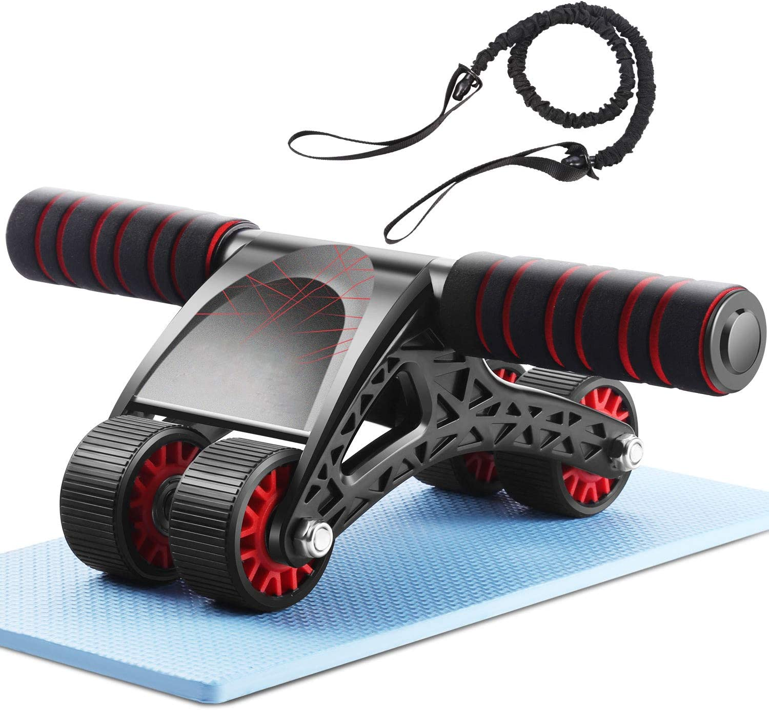 75% Off Coupon – Ab Wheel Roller with Knee Mat and Resistance Rope for Home Gym Exercise