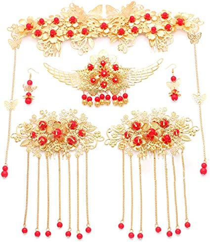 Corona de princesa hermosa tocado/Disfraz chino antiguo novia ...