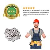 (Pack of 20) Desktop Fasteners Figure 8, Heavy Duty 12 Gauge Steel, Table Top Connector, Desk Top Hold Down Fasteners Clip by Podoy