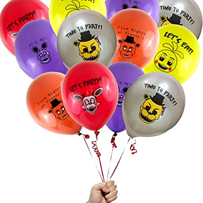 16 Count Five Nights at Freddys Party Favor 12 Printed Latex Party Balloons: Toys & Games