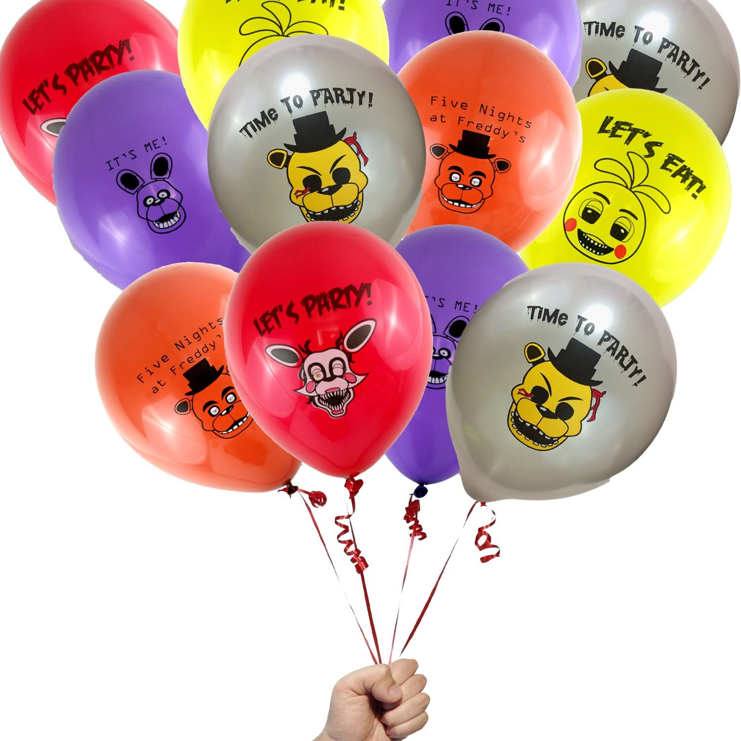 16 Count Five Nights at Freddys Party Favor 12 Printed Latex Party Balloons