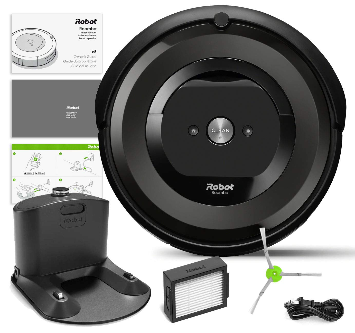 Amazon.com: iRobot Roomba e5 (5150) Robot Vacuum Bundle Wi-Fi ...