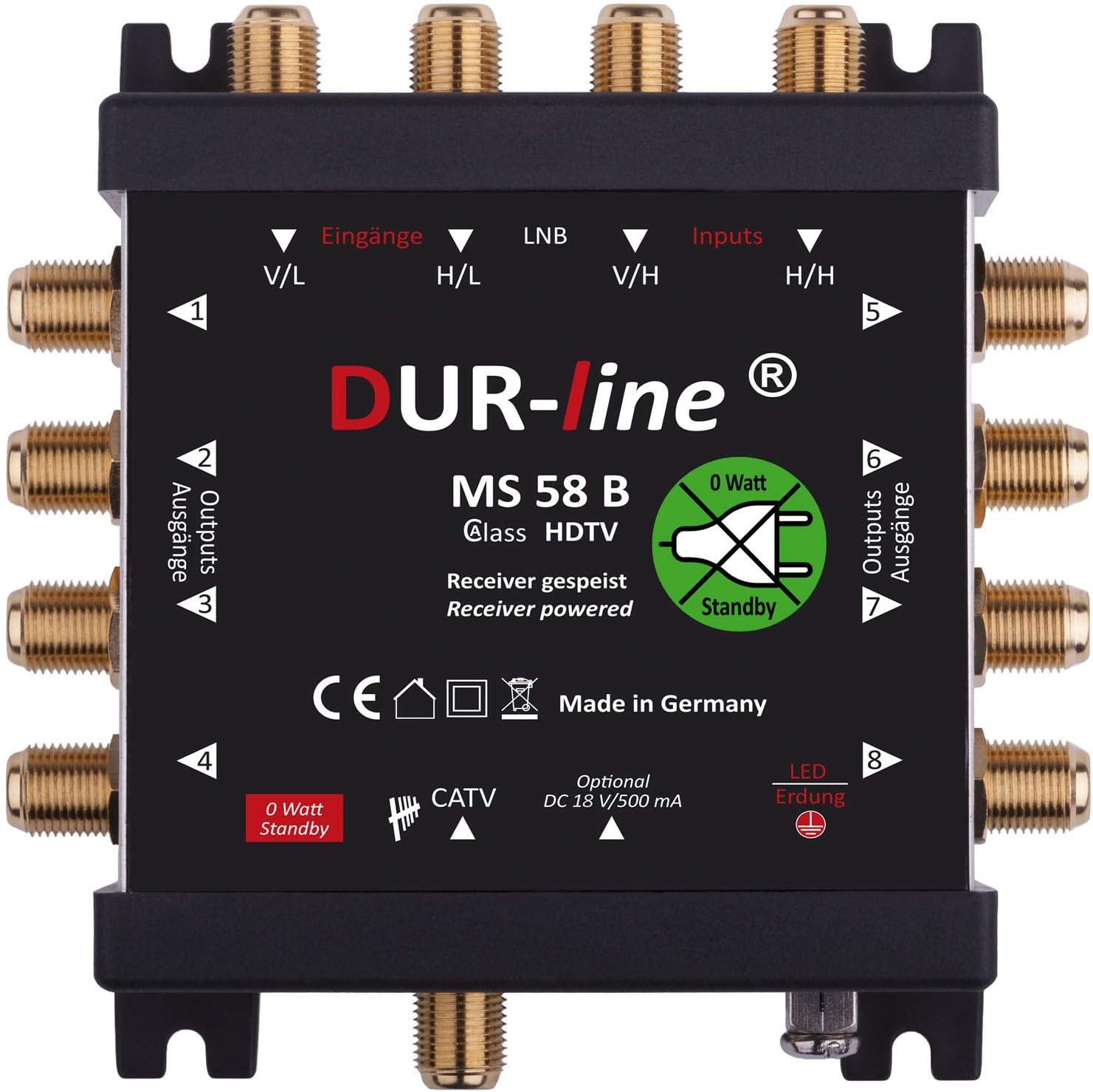 Dur Line Ms 5 8 B Eco Stromloser Multischalter Für 8 Elektronik