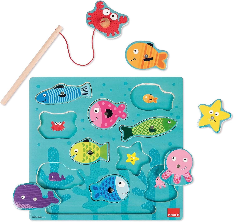 Goula Puzzle pesca magneticos para niños de 2 años , color/modelo surtido
