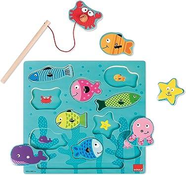 Goula - Puzzle de pesca magnetico - Puzzle de madera a partir de 2 años: Amazon.es: Juguetes y juegos