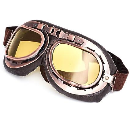 Motorcycle Goggles Glasses ATV Helmet Retro Vintage Pilot Style for Cafe Racer