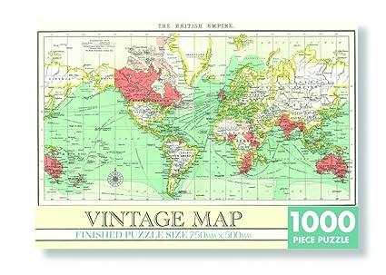 Map Of Uk 1000.Robert Frederick Jigsaw 1000 Piece Rectangular Vintage Map Assorted
