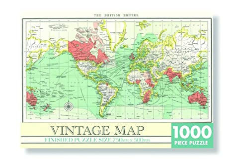 Amazon vintage world map jigsaw puzzle 1000 pieces 750mm x vintage world map jigsaw puzzle 1000 pieces 750mm x 500mm finished size by robert gumiabroncs Images