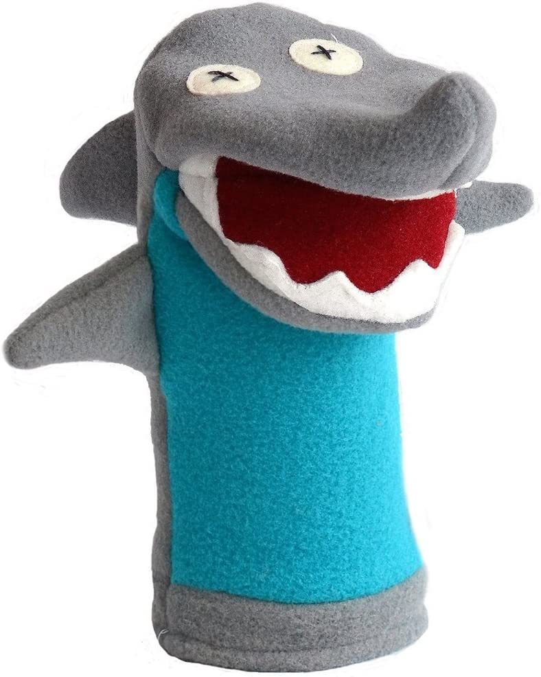 Cate & Levi Shark Hand Puppet with Moveable Mouth