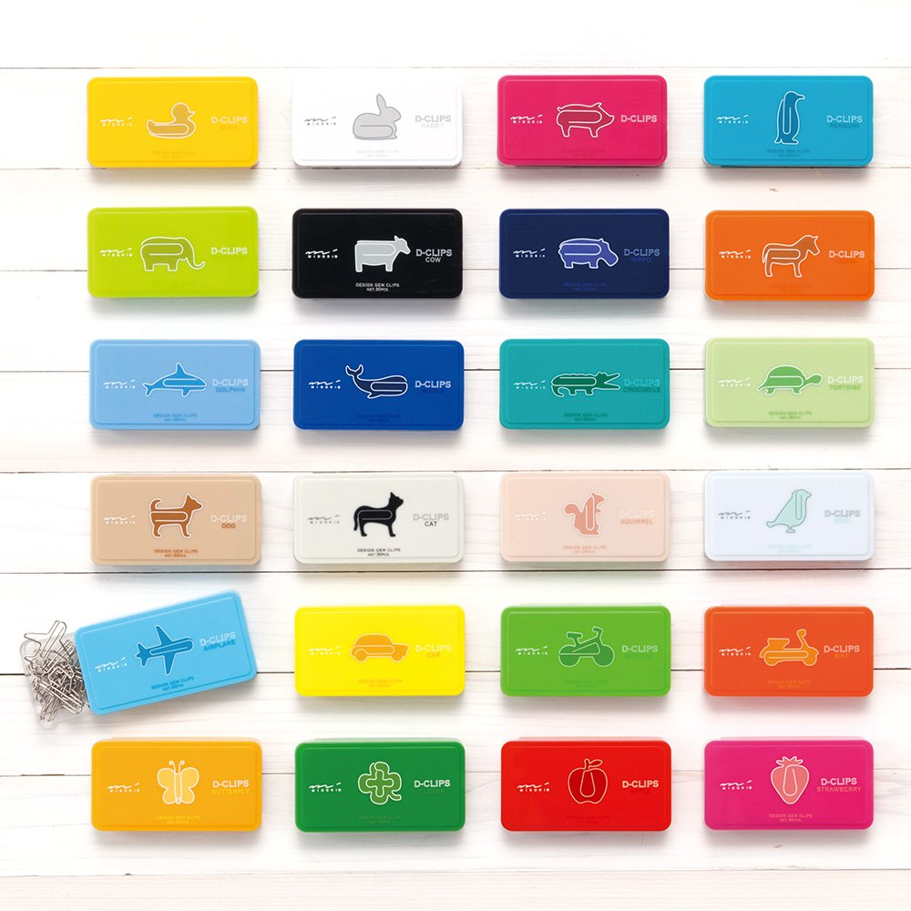 Graffette per carta a forma di anatra confezione da 30 pezzi Midori D-Clip