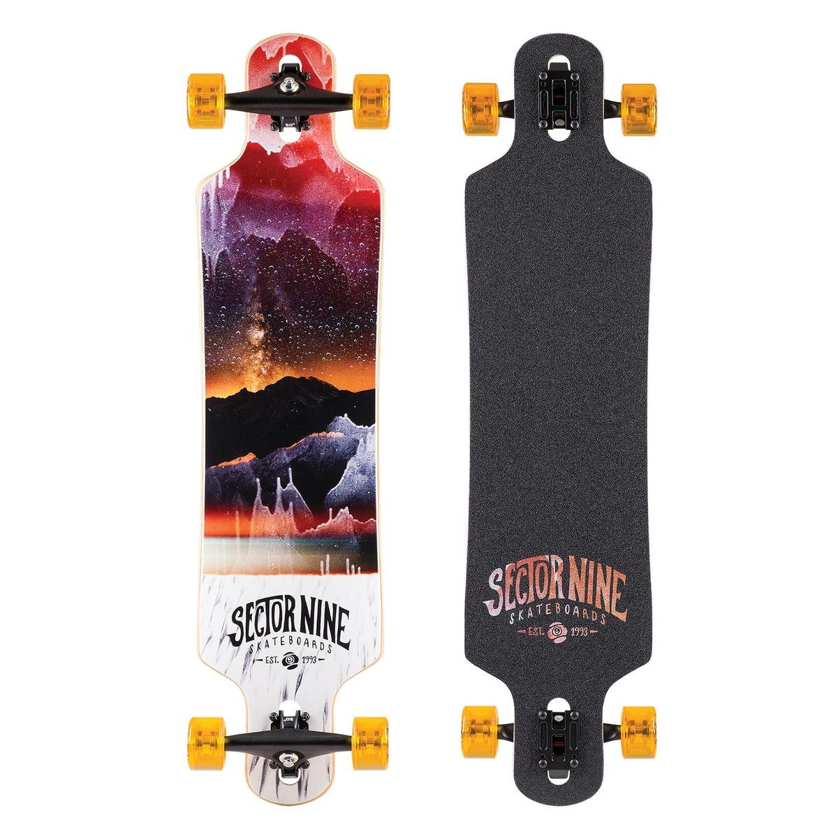 Sector 9 Meridian Complete Skateboard, Red