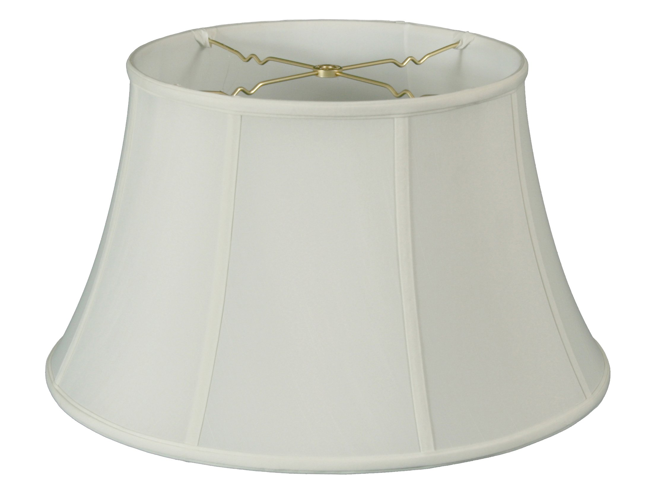 Royal Designs Shallow Drum Bell Billiotte Wall Lamp Shade - White - 8 x 12.5 x 7.6
