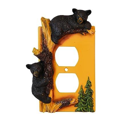 Black Bear Outlet Cover Home Decor