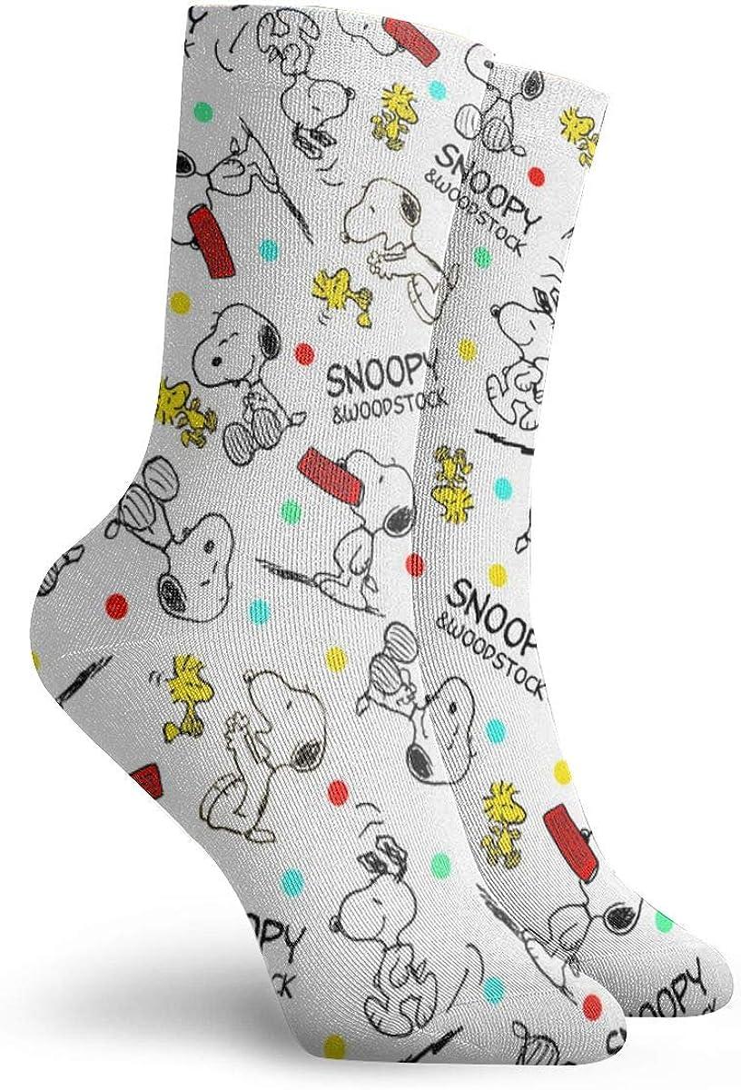 el mejor regalo adolescentes dise/ño divertido y novedoso ni/ñas calcetines casuales mujeres ni/ños Calcetines de Snoopy con dibujos animados para hombres