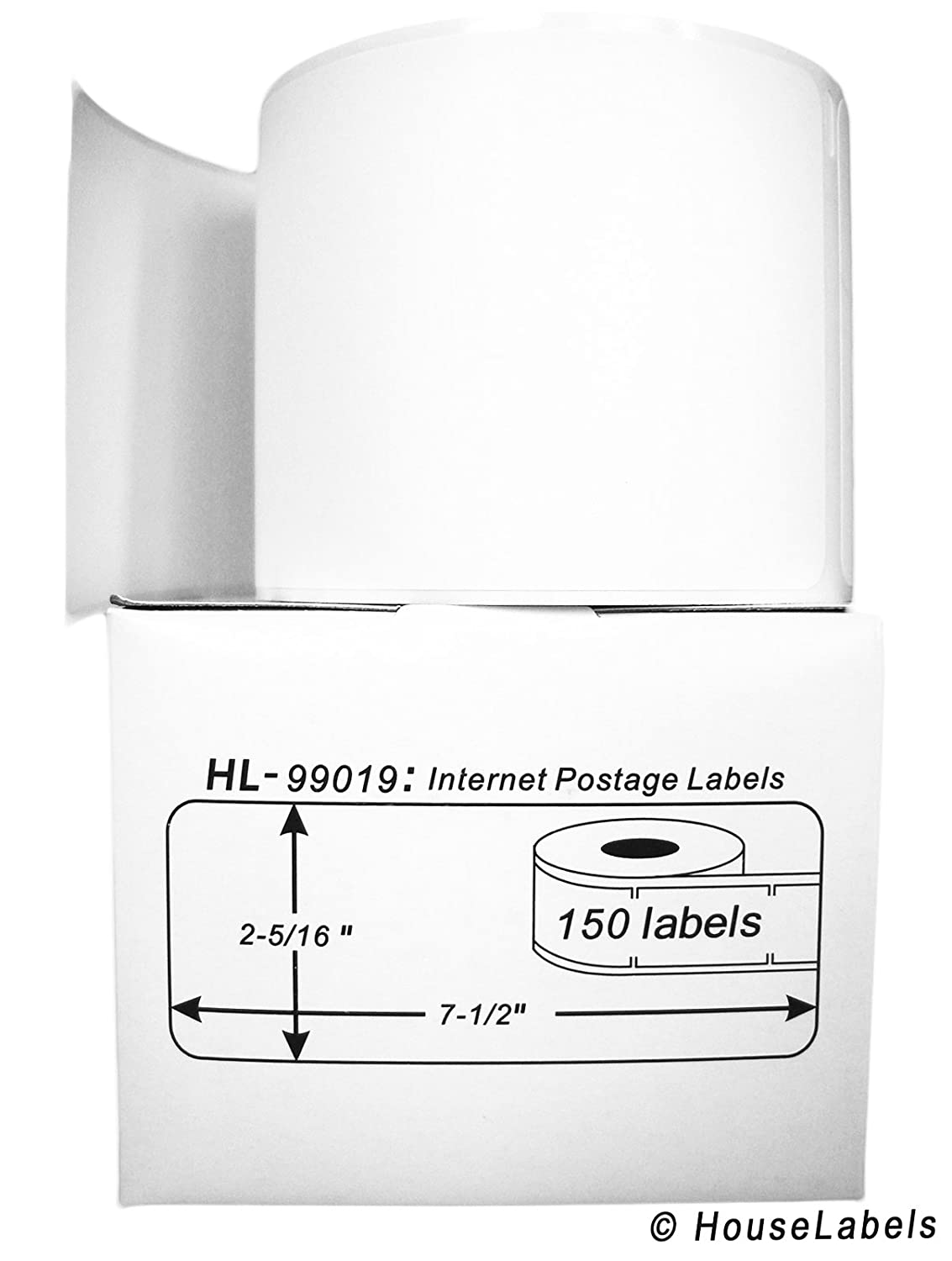 DYMO-Compatible 99019 1-Part Internet Postage Labels (2-5/16