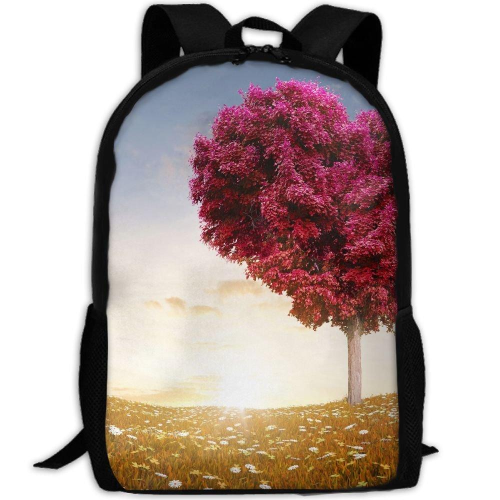 ZQBAAD Red Love Heart Tree Luxury Print Men And Women's Travel Knapsack