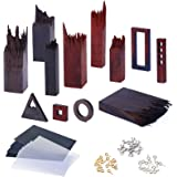 12PCS Wooden Pieces for Epoxy Resin Crafts, LET' S Resin Wood Frame Pendant Accessories, Mixed Colors Wooden Resin Kit…