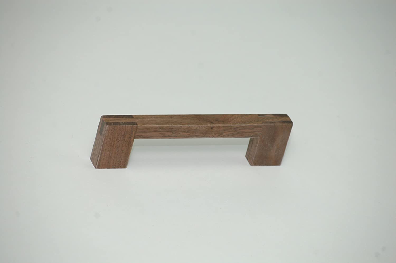 madera de nogal, distancia entre ejes: 128 mm SO-Tech M/öbelgriffe Juego de 12 tiradores para muebles
