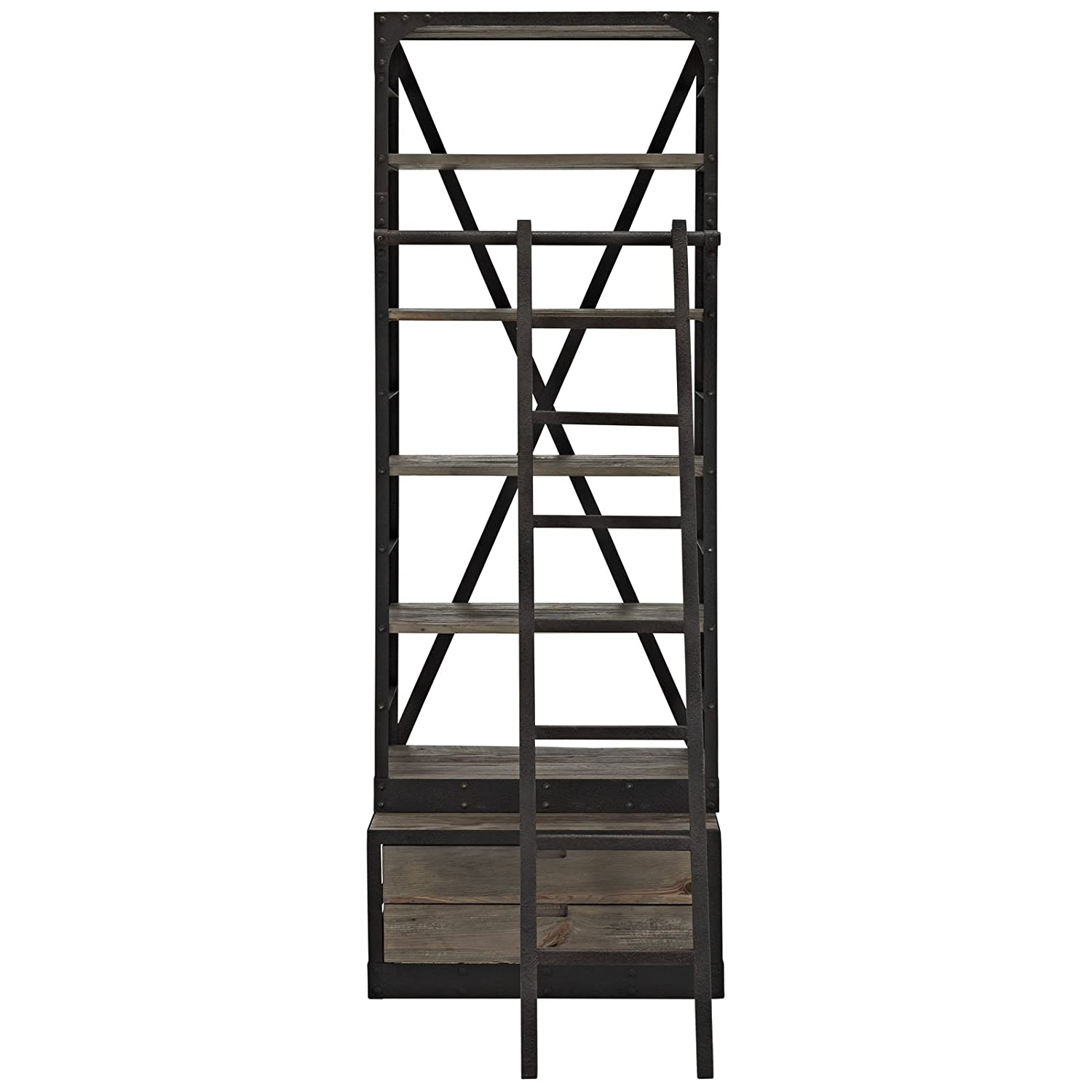 wood light kitchen bookcase studio stand multipurpose com brown dining lxwxh dp bookcases display collection tier x frame iron amazon