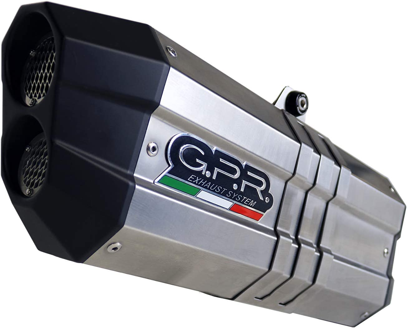 Gpr Exhaust System Kompatibel Mit Aprilia Caponord 1200 2013 17 Auspuff Omolog Mit Raccordo Sonic Inox Auto