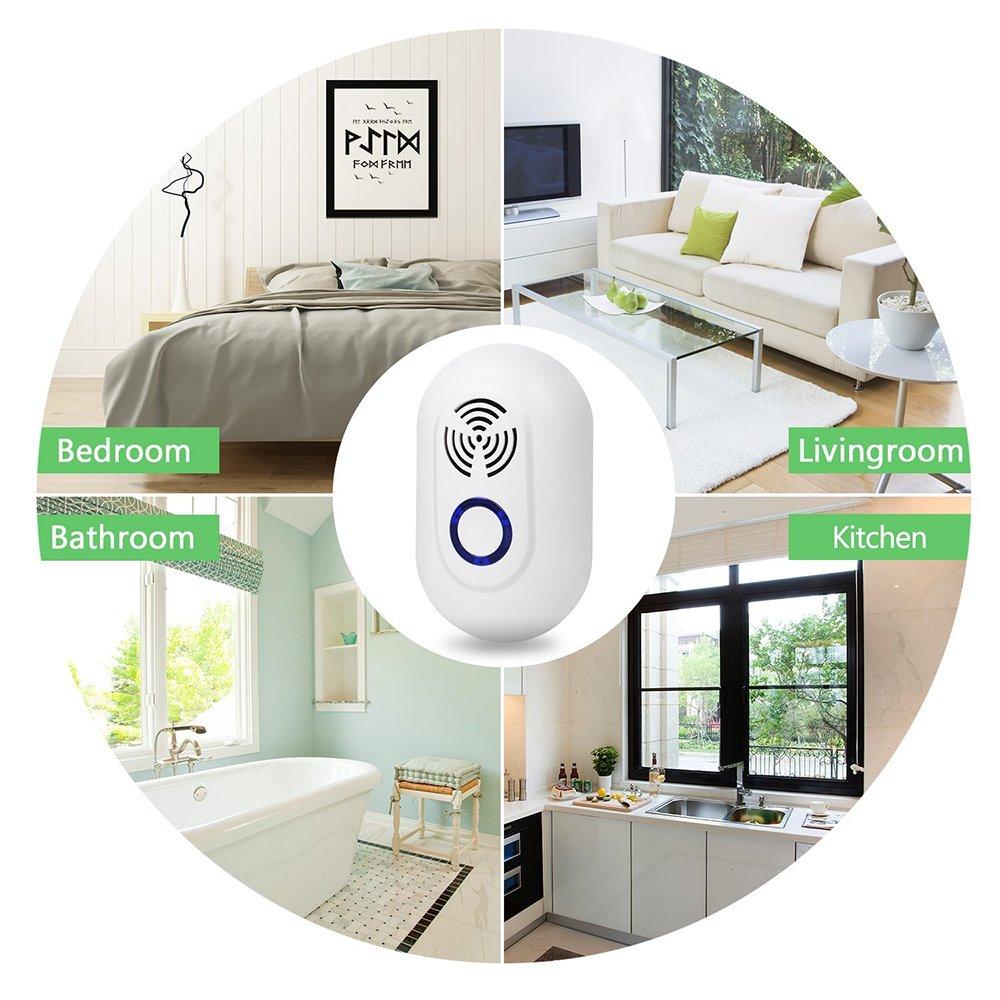 2 pcs L/ámpara Anti Mosquitos,Repelente Ultras/ónico de Plagas,Repelente electr/ónico de plagas Enchufe Insectos efectivos para interiores y exteriores