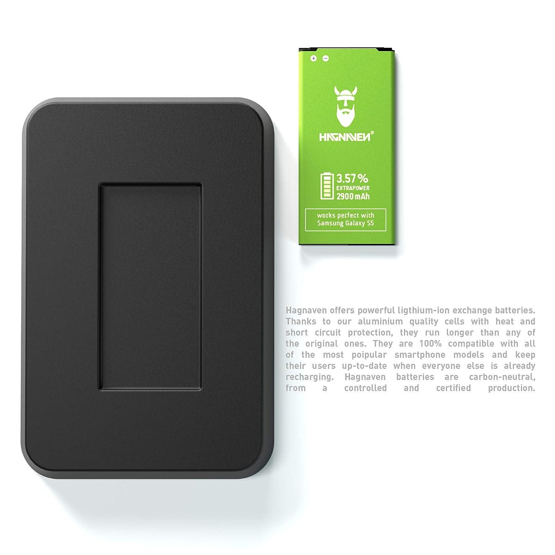 Batería Hagnaven® Li-polímero para Samsung Galaxy S5 SM-G900F | 2900 mAh | Batería de sustitución MÁS Potente| ENERGÍA arrolladora | Celdas Sustituye ...