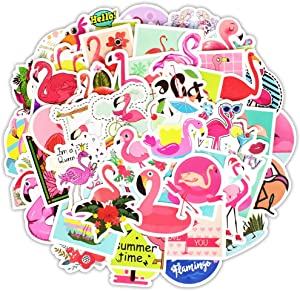 Honch Vinyl Flamingo Stickers Pack 50 Pcs Cute Flamingo Decals for Laptops Ipad Cars Luggage Water Bottle Helmet